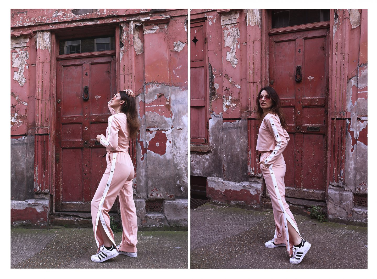 How to wear an All Pink Tracksuit