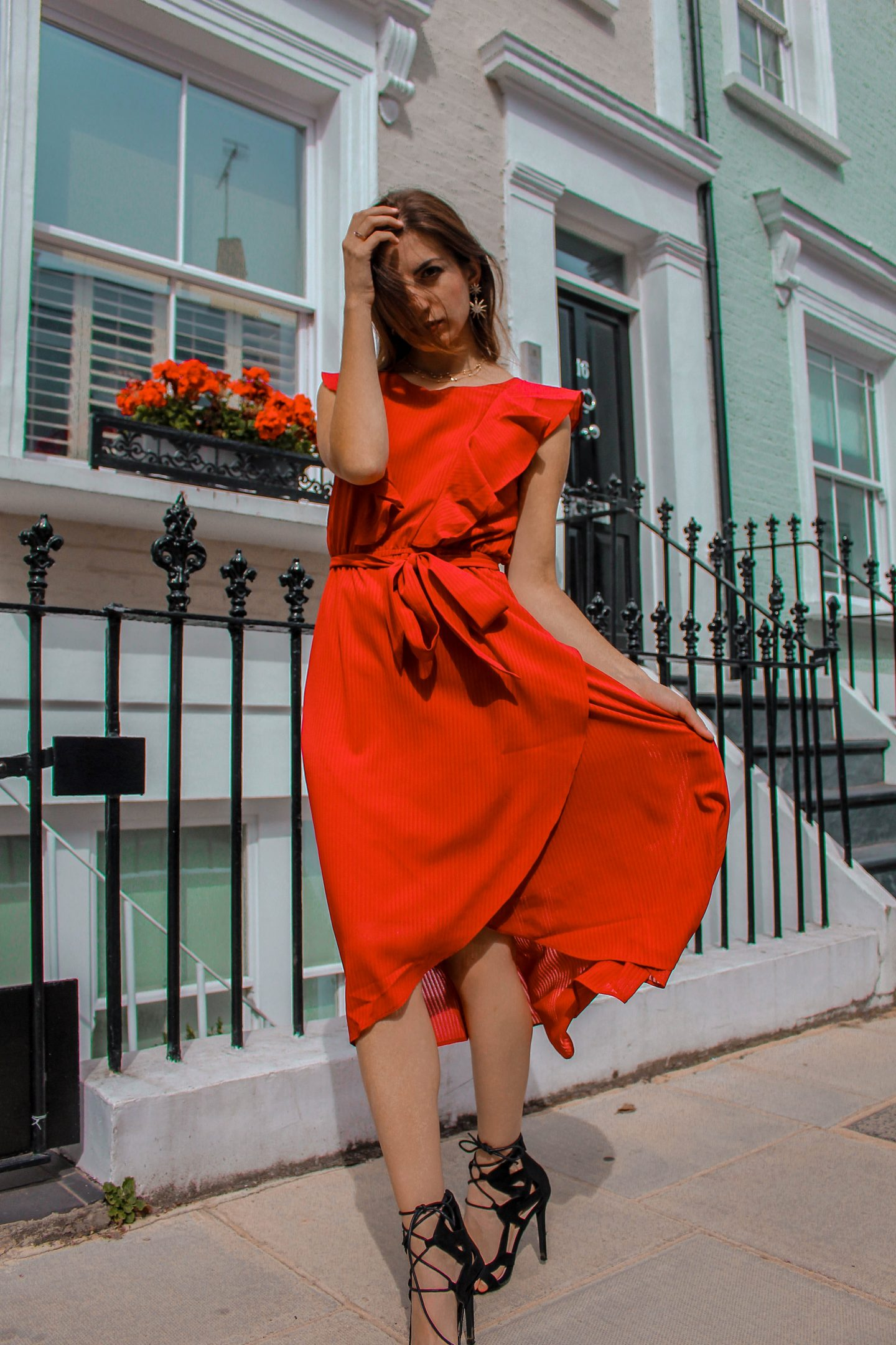 The Red Dress for Autumn