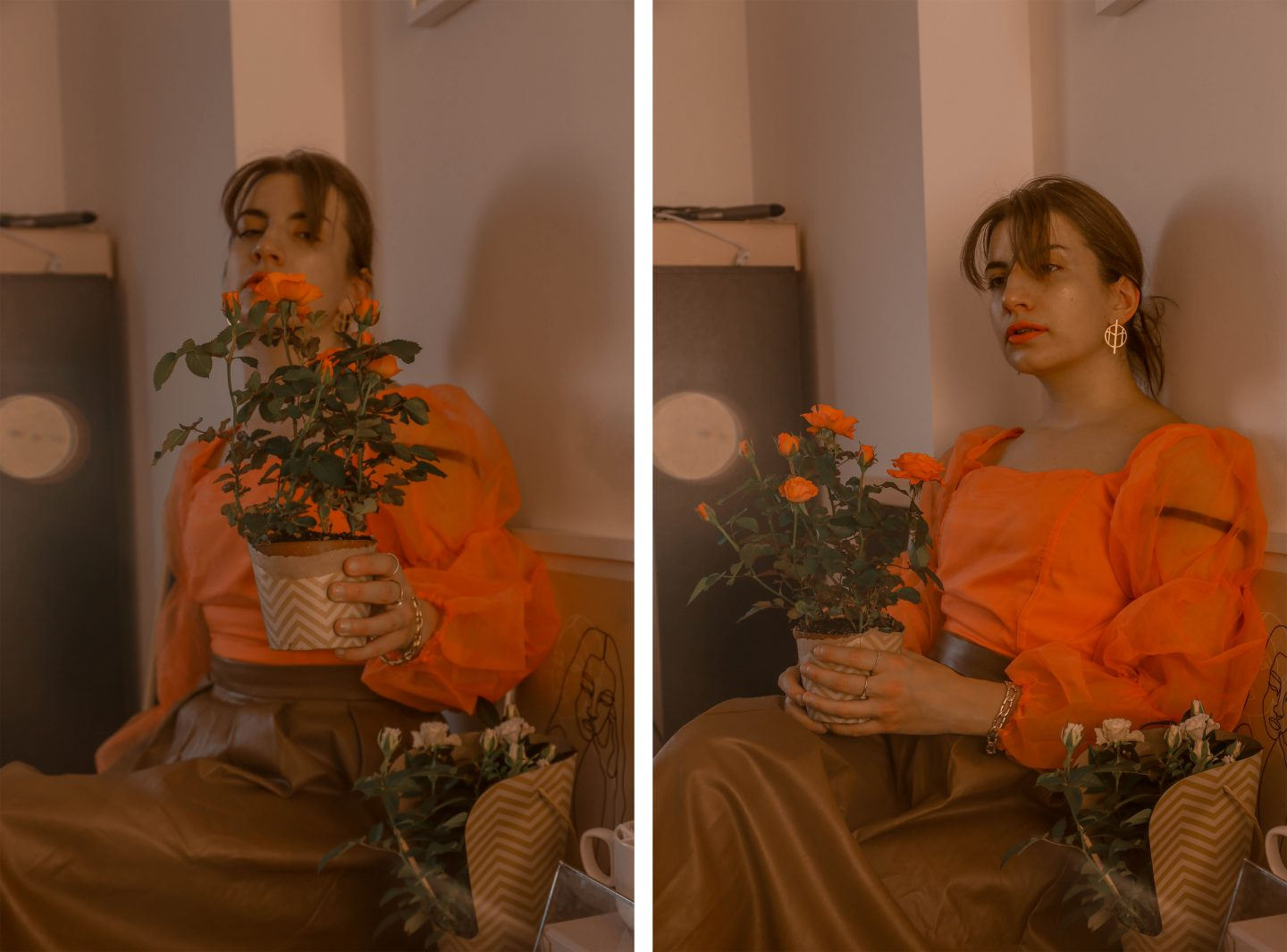 3 Ways to Pose with Flowers